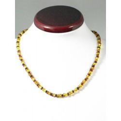 Collier ambre tricolore 46cm