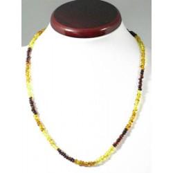 Collier ambre tricolore