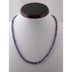 collier améthyste perles de 4 mm