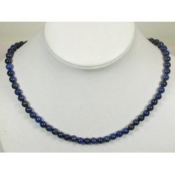 Collier lapis lazuli 6mm