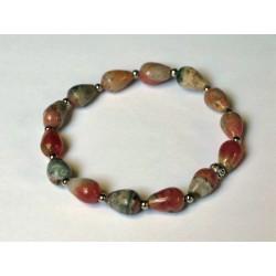 Bracelet rhodocrosite perles poires