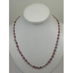 Collier toumaline rose ovale