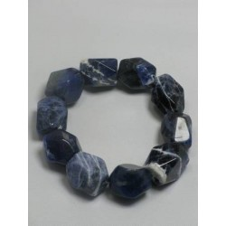 Bracelet sodalite grosses perles