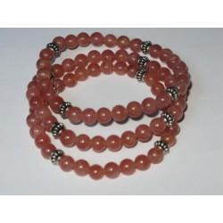 Bracelet rhodocrosite-ortis rondes