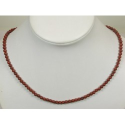 Collier jaspe rouge 4mm