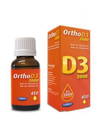 Lot de 3 Ortho D3 2000 : vitamine D bio liquide