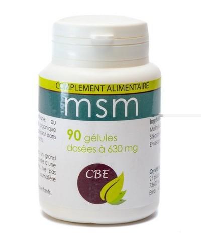 MSM soufre biodisponible en gélules - CBE