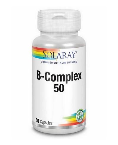 B Complex 50 capsules Solaray : équilibre nerveux et immunité