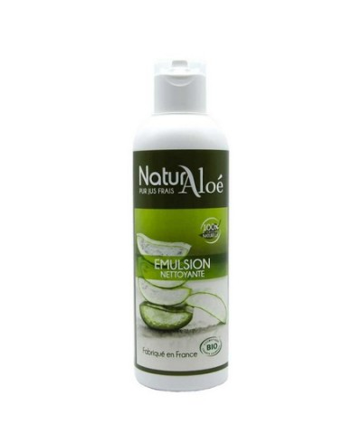 emulsion nettoyante à l'aloe de naturaloe