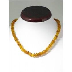 Collier ambre larges perles