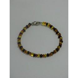 Bracelet ambre tricolore