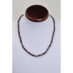 Collier grenat 8mm