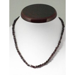 Collier grenat 5mm
