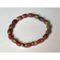 Bracelet Rhodocrosite : Perles olives