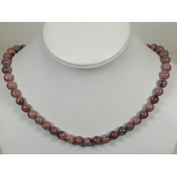 Collier rhodonite 8mm