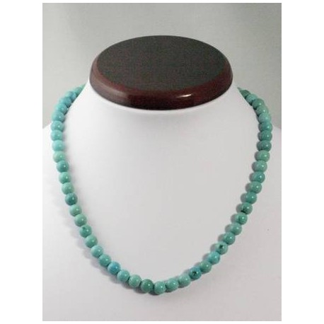 Collier turquoise 7mm