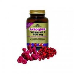 Vitamine c Solgar 500 à croquer : immunité, antioxydant