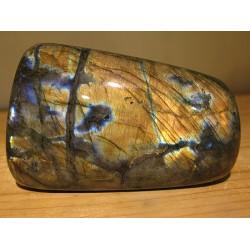 Labradorite orangée et bleue