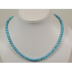 Collier turquoise arizona mat 5mm