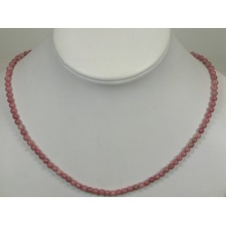 Collier rhodonite 4mm