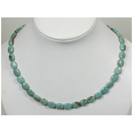 Collier turquoise ovale