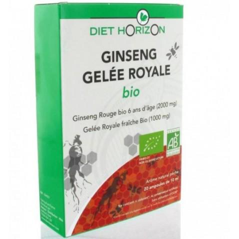 Ginseng-Gelée Royale ampoules : vitalité et tonus