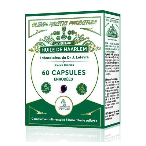 Huile de haarlem Laboratoires lefèvre : 60 capsules gastro-résistantes
