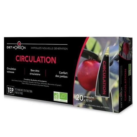 Circulation Ampoules Bio Diet horizon : plantes pour la circulation